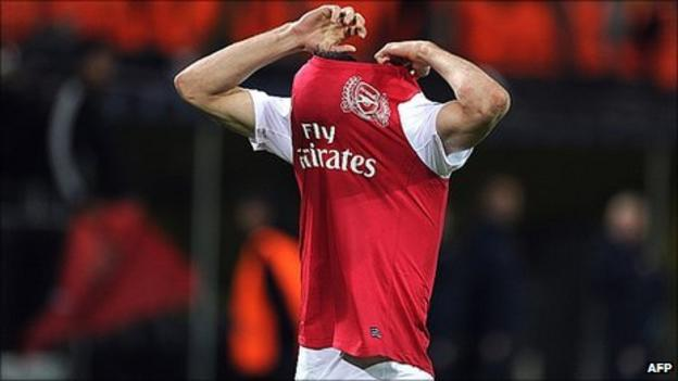 Arsenal disappointed