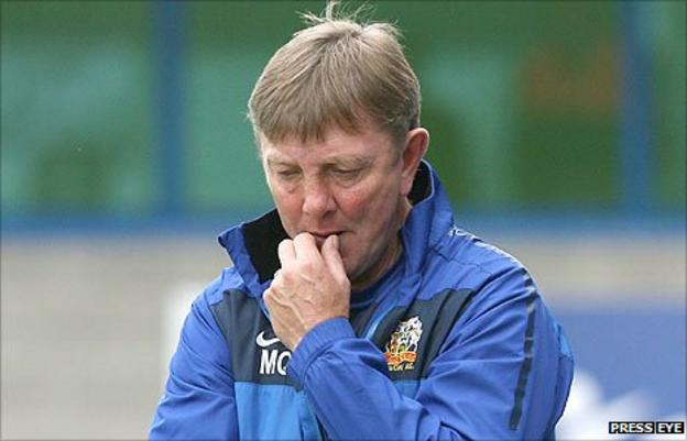 Glenavon manager Marty Quinn