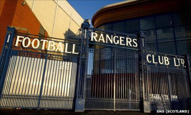 Ibrox Stadium, home of Scottish champions Rangers