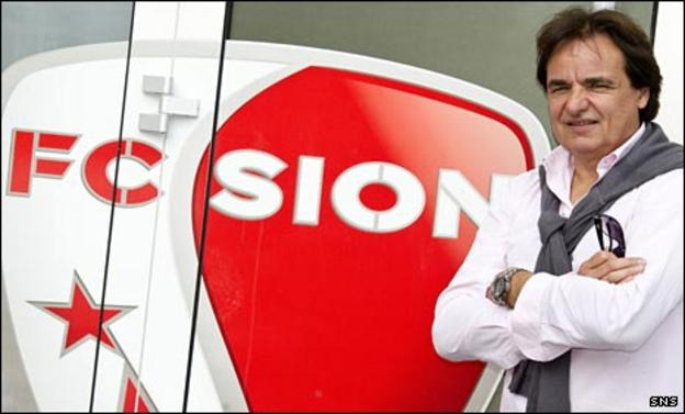 Sion owner Christian Constantin