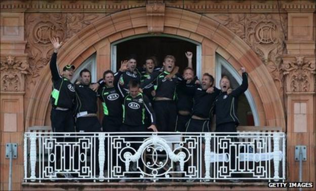 Surrey celebrate winning the CB40