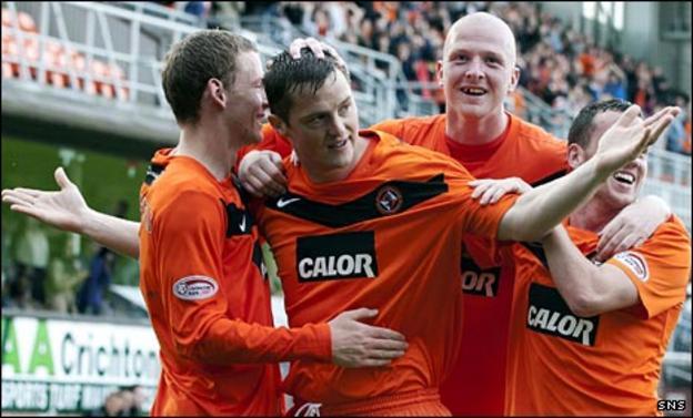 Jon Daly celebrates