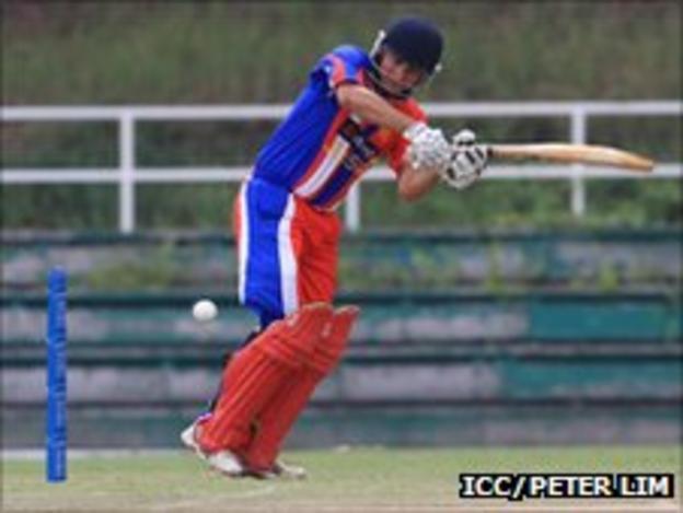 Dean Morrison in action against Guernsey