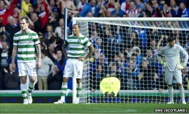 Celtic players Anthony Stokes, Kelvin Wilson and Fraser Forster