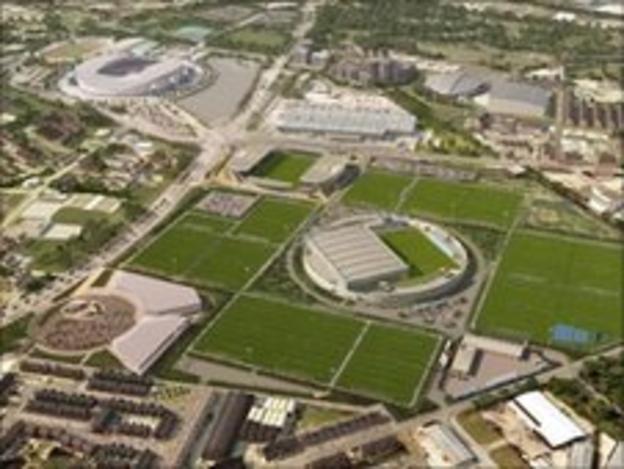 City's new training complex near to the Etihad Stadium