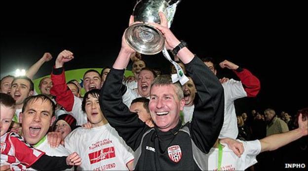 Derry City celebrate