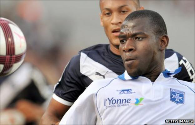 Mali and Auxerre's Adama Coulibaly