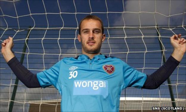 Hearts goalkeeper Jamie MacDonald
