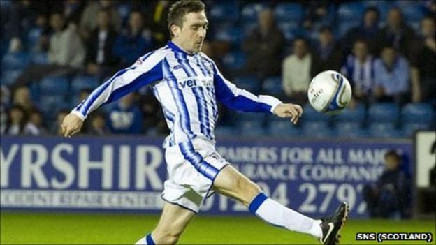 Kilmarnock striker Paul Heffernan scores his third