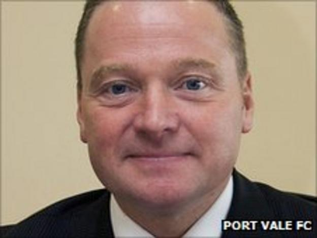 Port Vale chief executive Perry Deakin