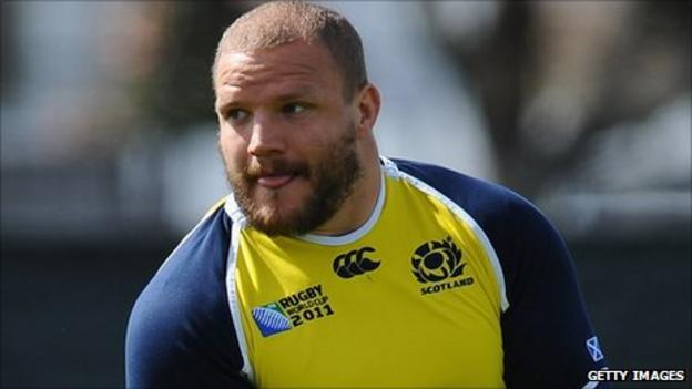 Scotland prop Euan Murray in training at the Rugby World Cup