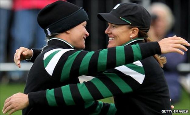 Suzann Pettersen and Sophie Gustafson