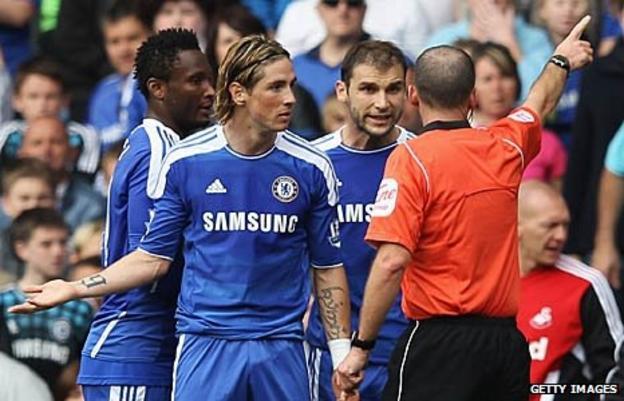 Fernando Torres is sent-off
