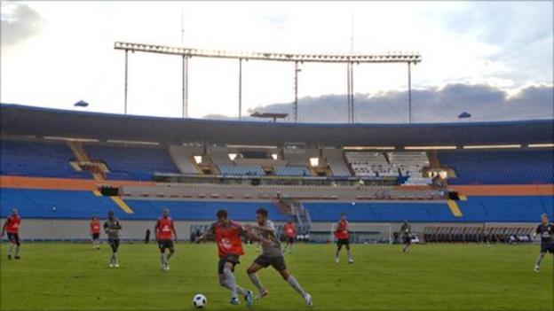 The Arena da Baixada in Brazil