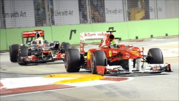 Felipe Massa criticises Lewis Hamilton's driving in Singapore ...