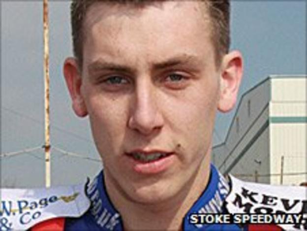 Stoke Potters rider Simon Lambert
