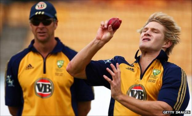 Troy Cooley (left) with Shane Watson