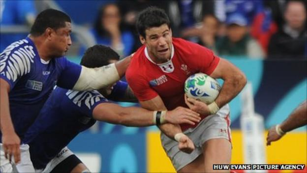 Mike Phillips in the Wales v Samoa match