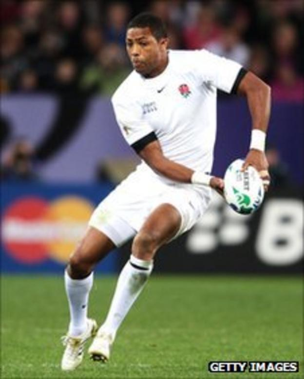 Delon Armitage in action for England at the World Cup