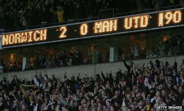 Norwich City 2-0 Man Utd