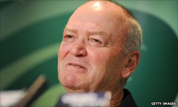 Graham Henry speaks to the media after announcing his team for the Canada game