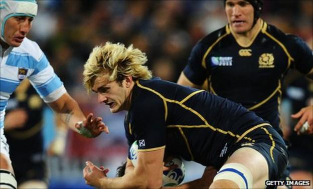 Richie Gray in action during the 13-12 loss to Argentina
