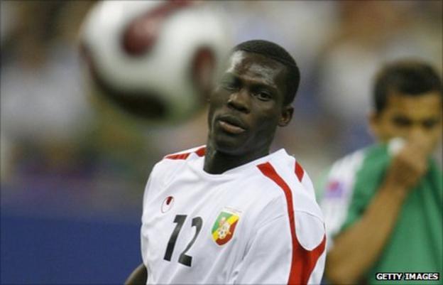Wydad's Congo striker Fabrice Ondama