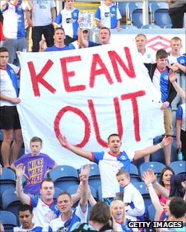 Blackburn fans call for Steve Keane to be sacked