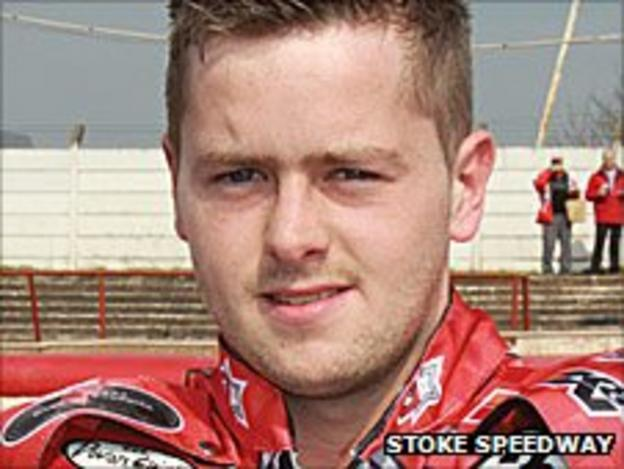 Stoke Potters rider Gareth Isherwood
