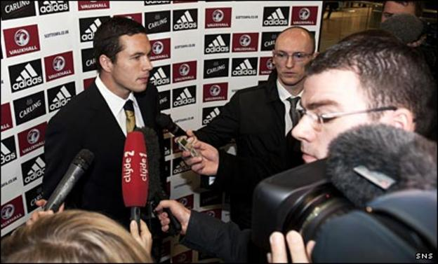 Scotland defender Don Cowie and Chris McLaughlin