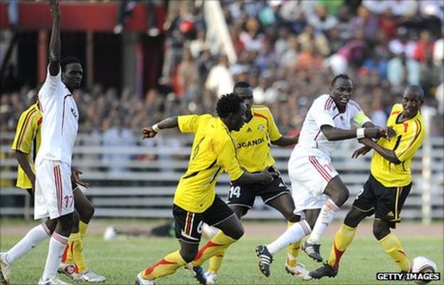 Uganda take on Kenya in Nairobi last year