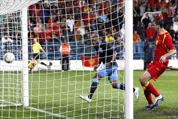 Darren Bent scores England's second