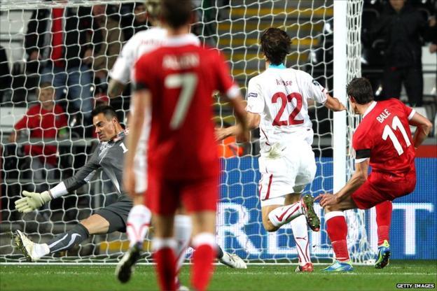 Gareth Bale scores Wales' second