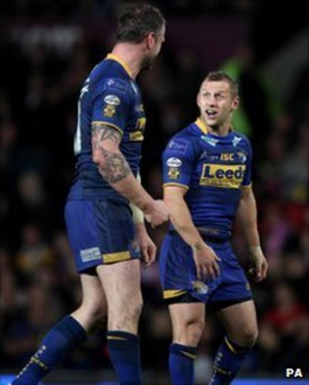 Jamie Peacock and Rob Burrow