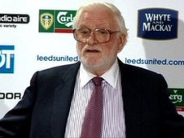 Ken Bates at a Leeds United press conference