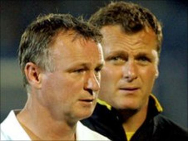 Michael O'Neill (left) and Jim Magilton