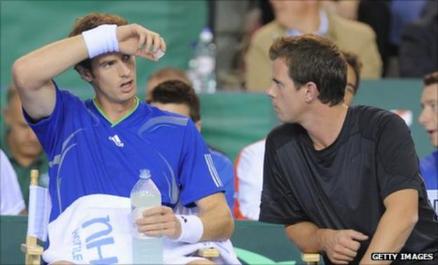 Leon Smith (right) with Andy Murray