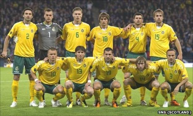 Lithuania line up to play Scotland
