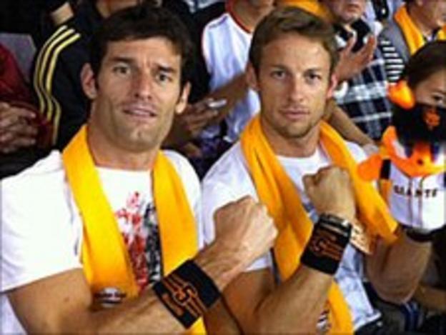 Mark Webber and Jenson Button