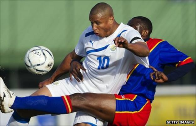 Gabon striker Daniel Cousin