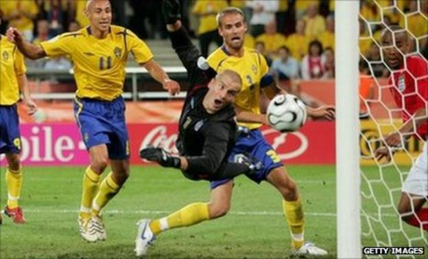 England drew 2-2 against Sweden at the 2006 World Cup
