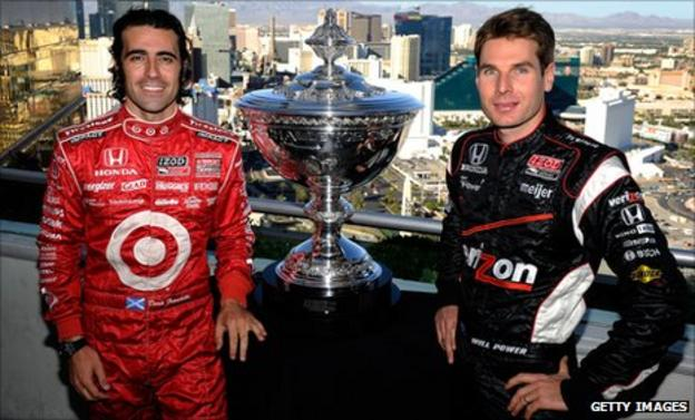 Dario Franchitti (left) and Will Power