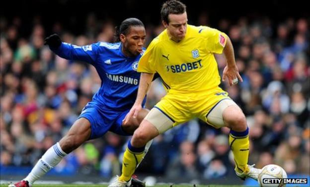 Gavin Rae in action for Cardiff against Chelsea