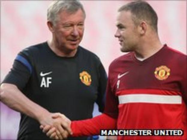 Sir Alex Ferguson (left) and Wayne Rooney