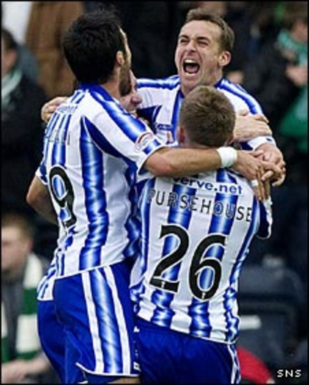 Kilmarnock celebrate James Fowler's goal