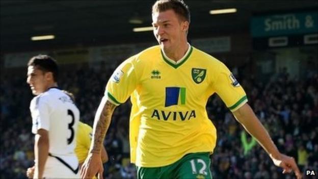 Norwich winger Anthony Pilkington