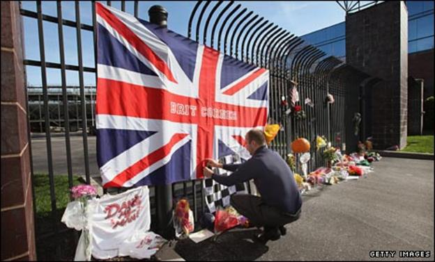 Tributes placed at Indianapolis Motor Speedway