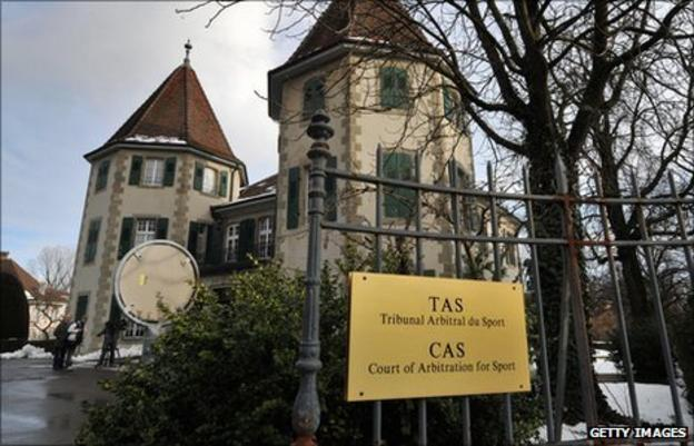 The Court of Arbitration for Sport in Lausanne, Switzerland