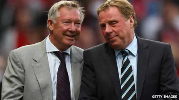 Manchester United manager Alex Ferguson and Tottenham Hotspur manager Harry Redknapp