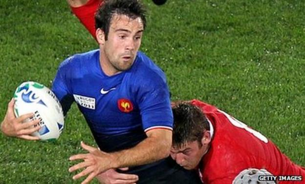 France fly-half Morgan Parra in action against Wales